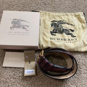 Burberry Elderberry Python Belt